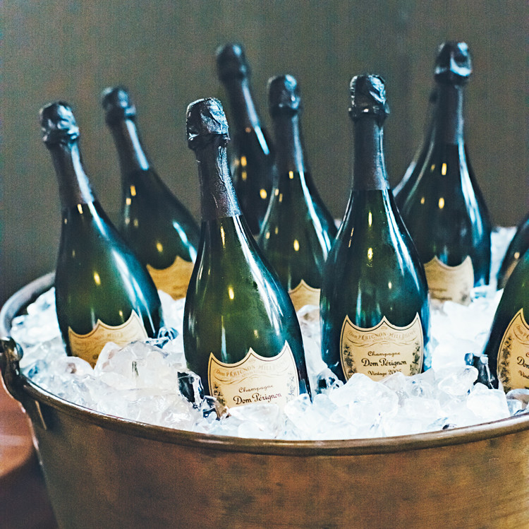 dom perignon on ice