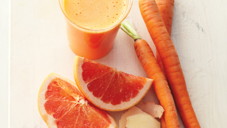Grapefruit Carrot And Ginger Juice