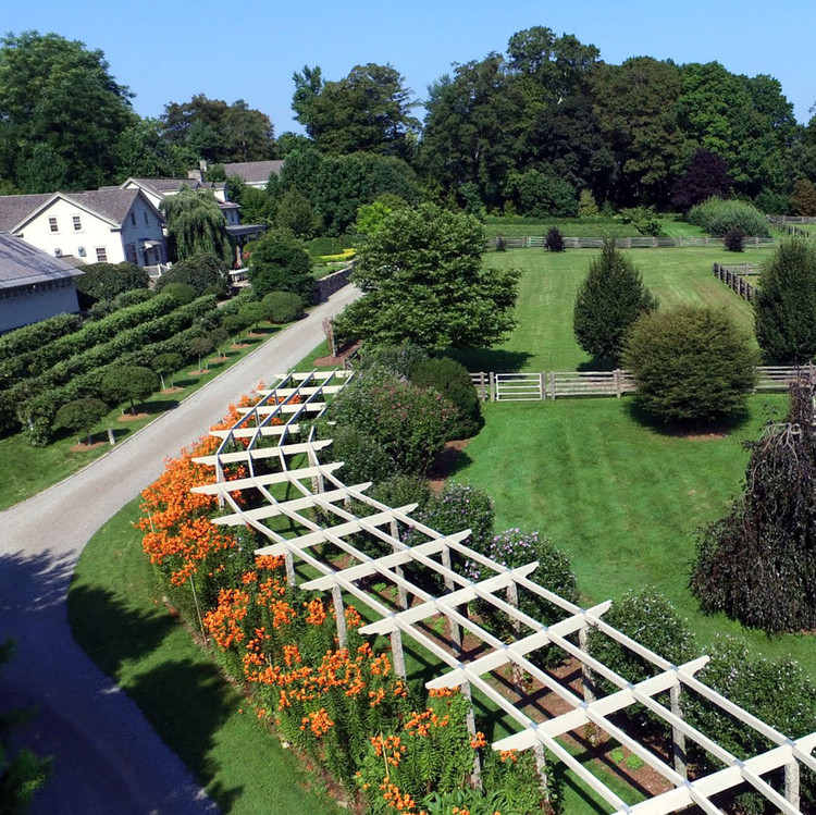 marthas property drone shot in summer