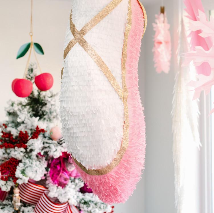 nutcracker christmas party ballerina shoe pinata