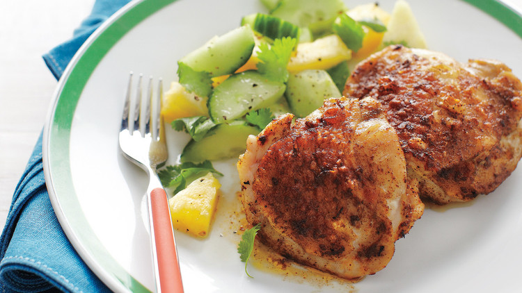 chicken pineapple cucumber salad