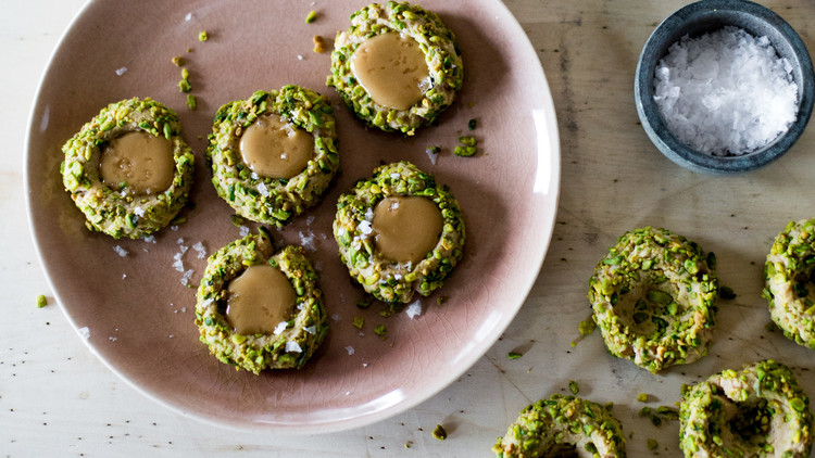maple pistachio thumbprints