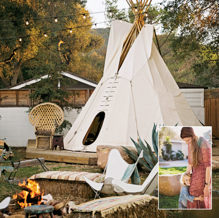 roe family backyard teepee