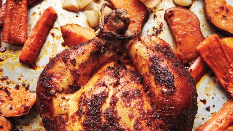 Roast Chicken with Paprika and Roasted Garlic