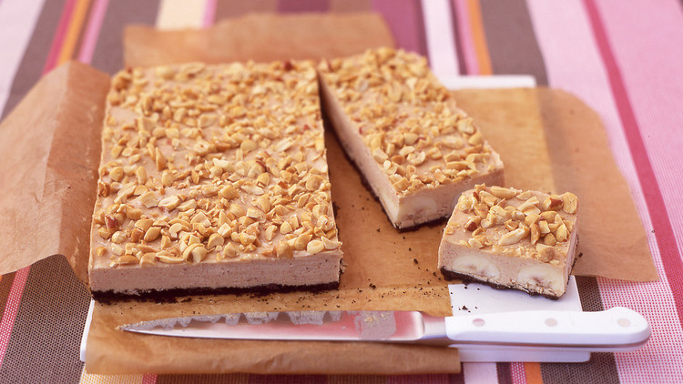 Frozen Peanut-Butter and Banana Bars