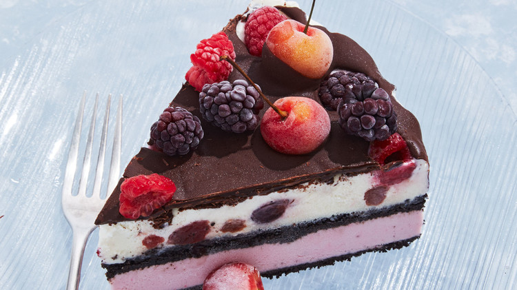 Berries-and-Cherries Ice Cream Cake