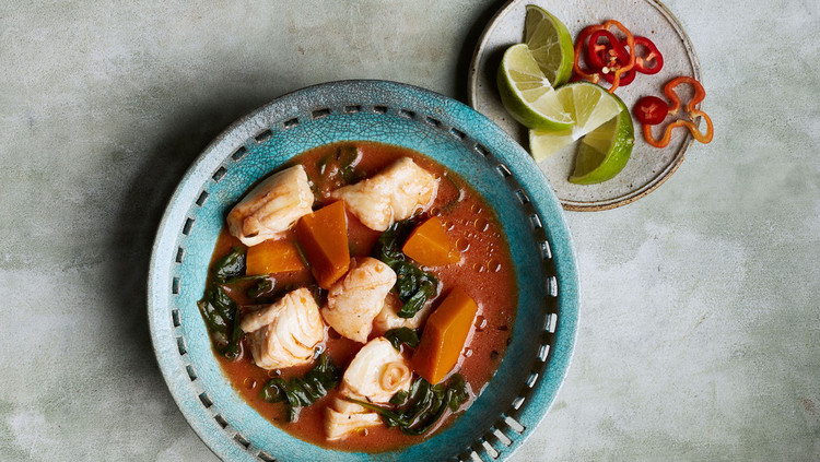 Caribbean Fish-and-Pumpkin Stew recipe