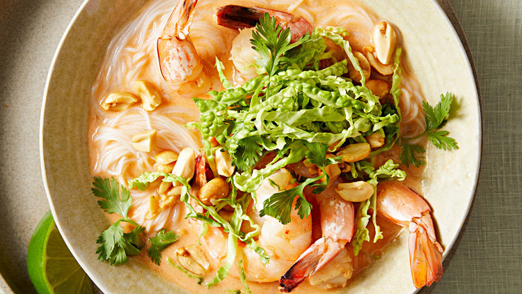 Curried Shrimp and Noodle Soup