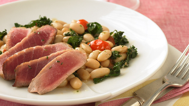 Rosemary Tuna with White Beans