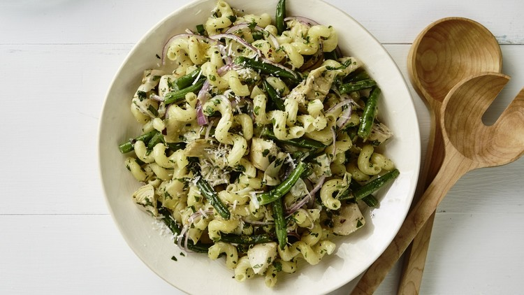 Marinated Artichoke And Green Bean Pasta Salad