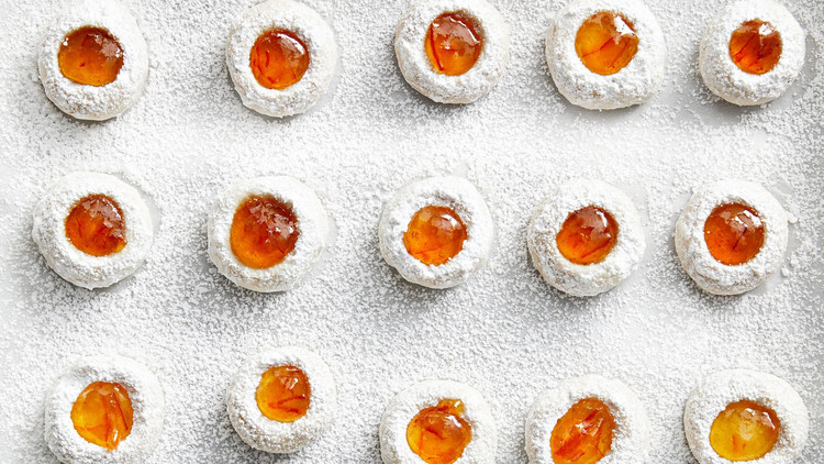 Orange-Almond Thumbprint Cookies Sarah Carey