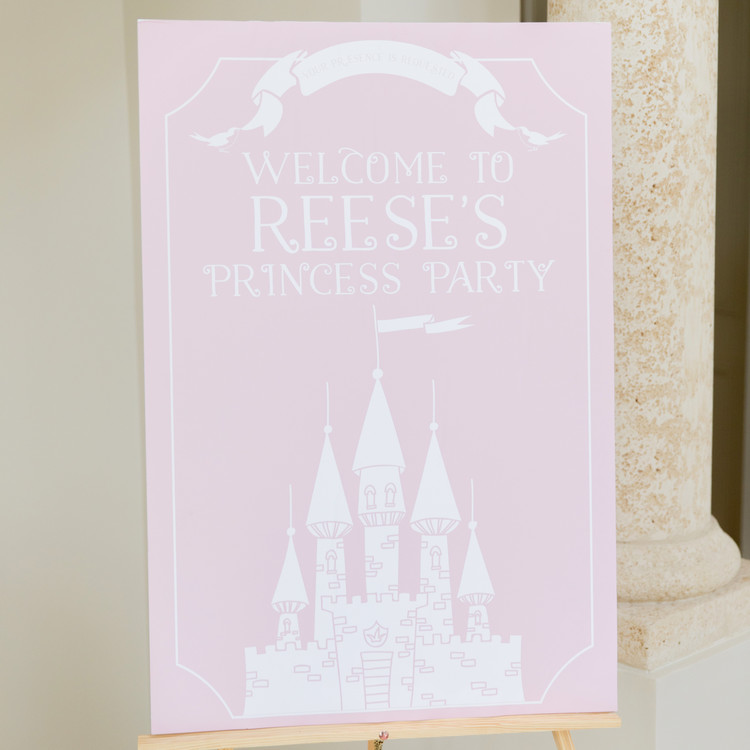 fashionable hostess reese princess birthday party sign