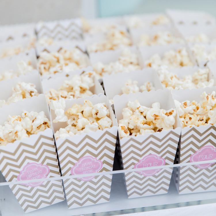 fashionable hostess reese princess birthday party popcorn