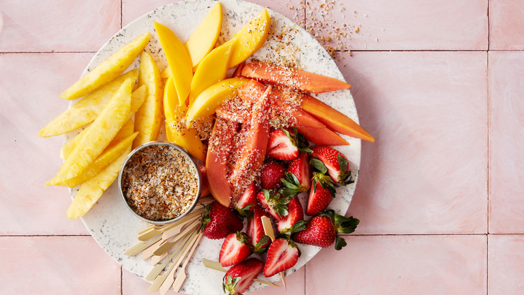 Tropical-Fruit Salad With Coconut Crunch
