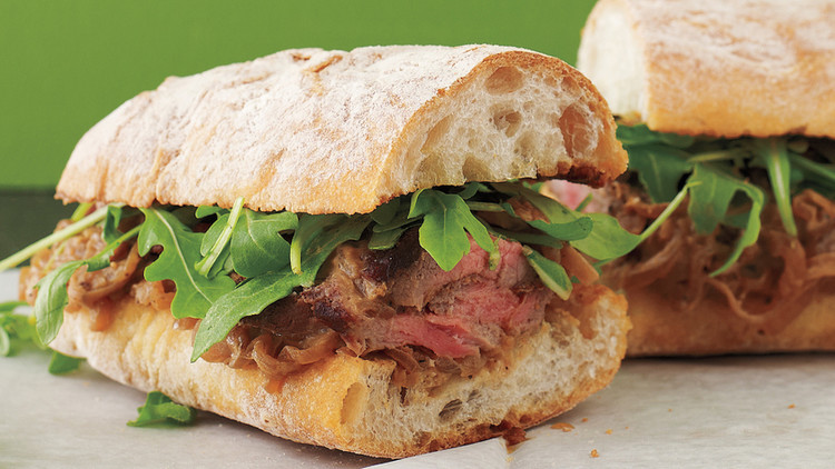 Steak Sandwiches With Creamy Shallots