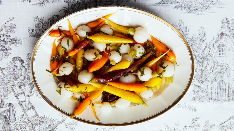 Tender Carrots and Turnips with Mint Dressing Greg Lofts