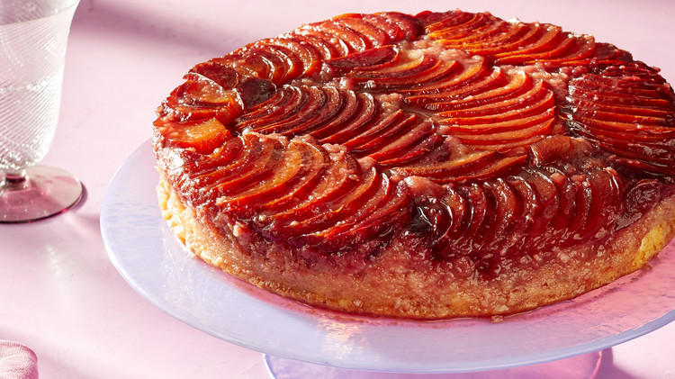 plum upside down cake martha bakes