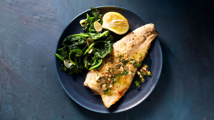 Trout with Almond-Parsley Butter Shira Bocar