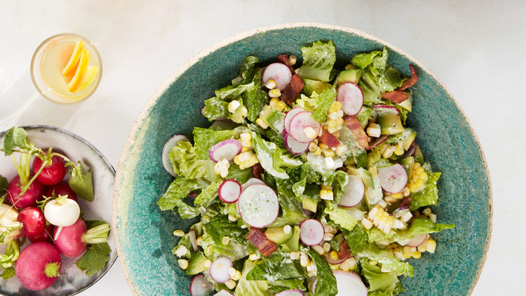 Corn-and-Avocado Salad With Goddess Dressing