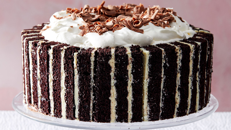 A meticulously crafted chocolate cake.