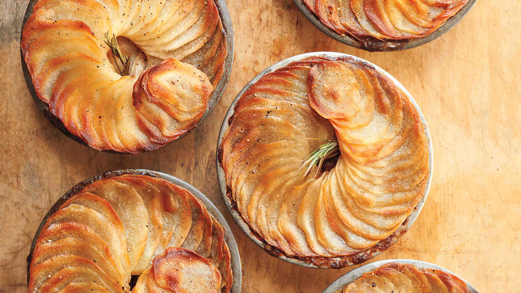 Braised Short Rib, Stout, And Potato Potpies Recipe — Dishmaps
