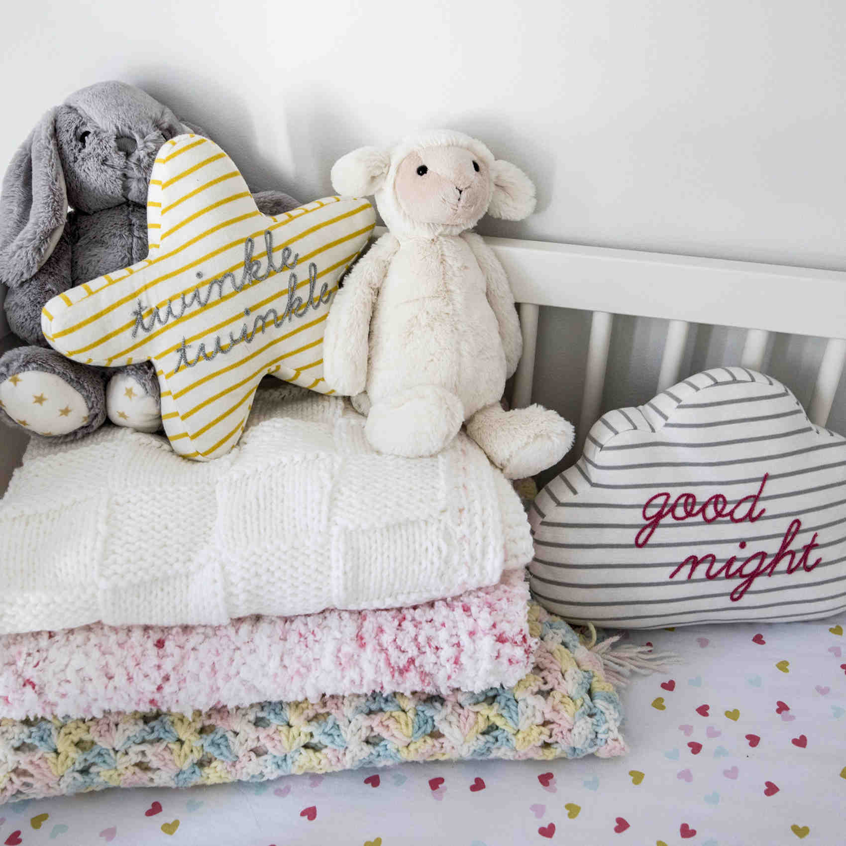 Nursery Crib Pillows Handmade