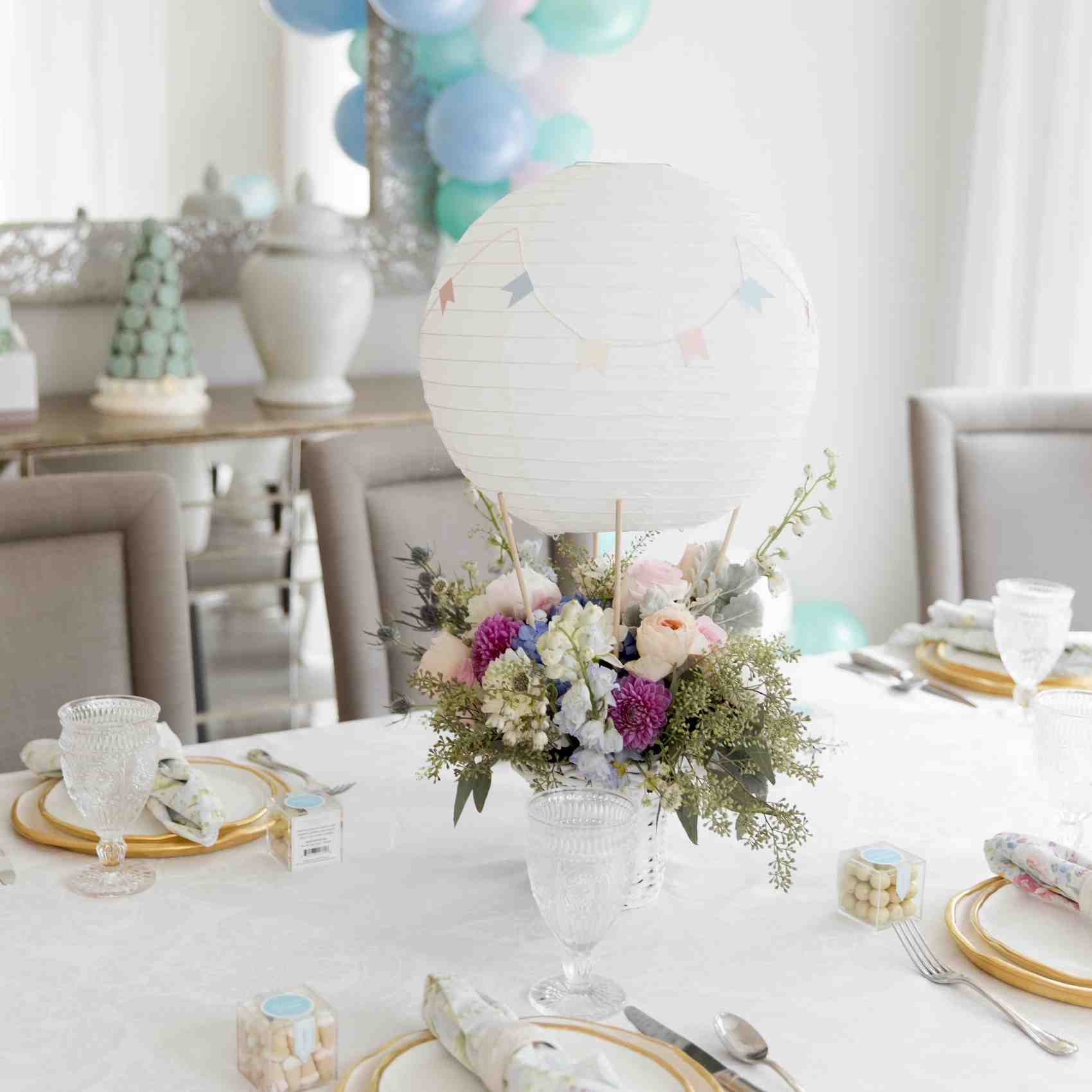 Table decorations for baby shower by martha stewart home for Baby shower decoration ideas martha stewart